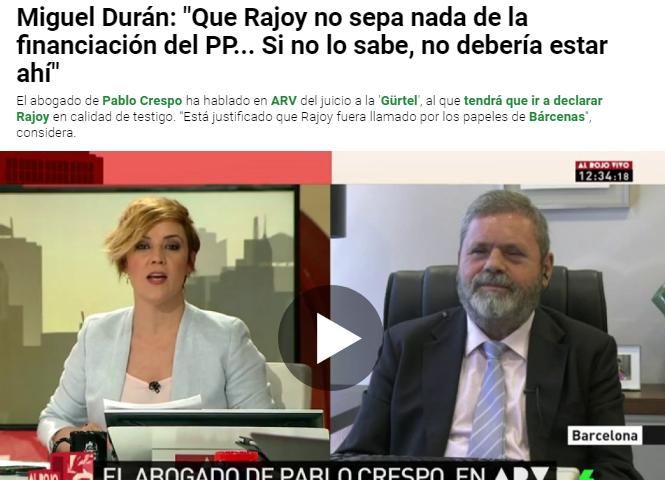 El abogado de Pablo Crespo habla sobre juicio a la Gürtel y la declaración de Rajoy como testigo