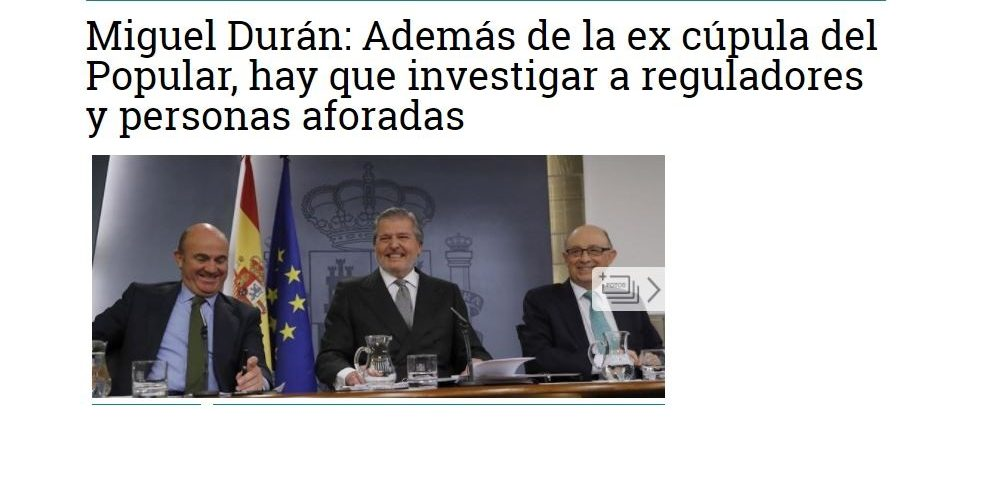 Durán & Durán Abogados, primer despacho que denuncia la quiebra del Banco Popular
