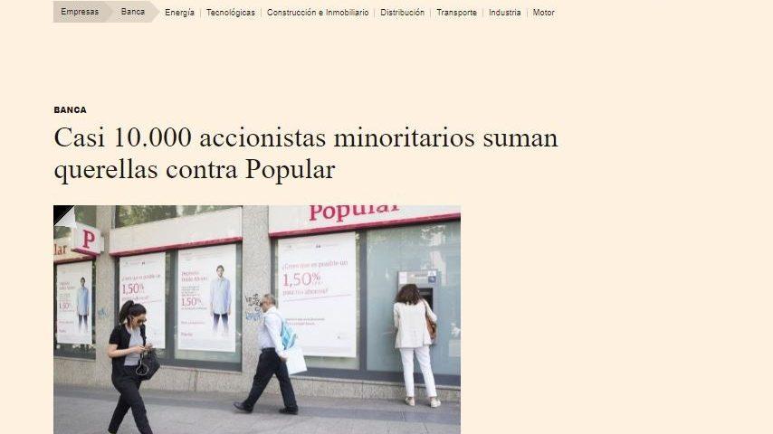 D&D acusa a Saracho de querer vender el banco Popular a JPMorgan