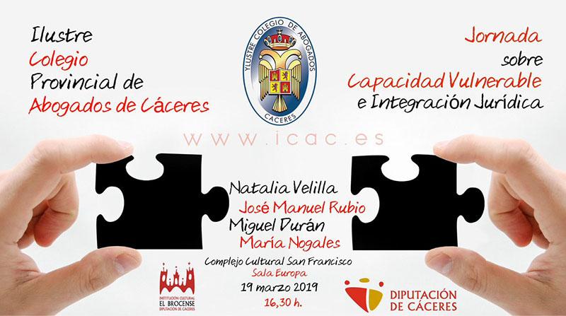 Jornada sobre la capacidad vulnerable y la integración jurídica